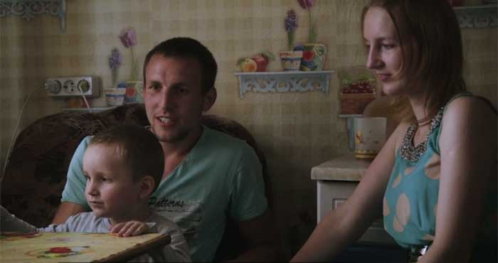 Still from the documentary Lyubov - love in Russian