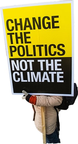 Change the politics. Not the climate. Foto: Mostphotos